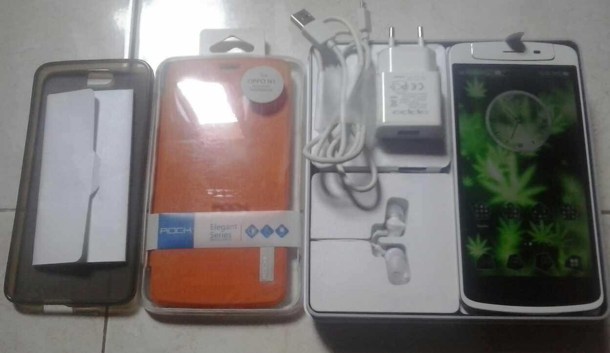 Terjual Hp Oppo N1 Fullset Warna Putih Mulluuss N Masih