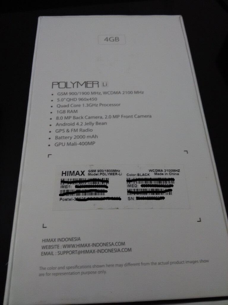 Terjual Himax Polymer Li Polimer Di Bekasi Kaskus Quadcore Ram 1gb Hitam