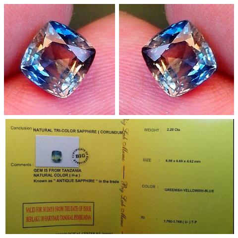 Saphire / Sapphire / Safir Antique Colour Memo BIG