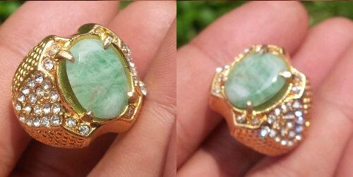 Jual Cepat Aja Gan Batu Natural Cat's Eye & Emerald Beryl (Zamrud) COD Silahkan