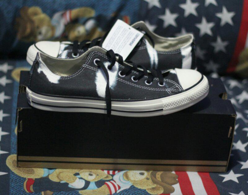 jual sepatu converse all star CT OX Black belang Low size 41 original  murah(Bekasi fb77932559