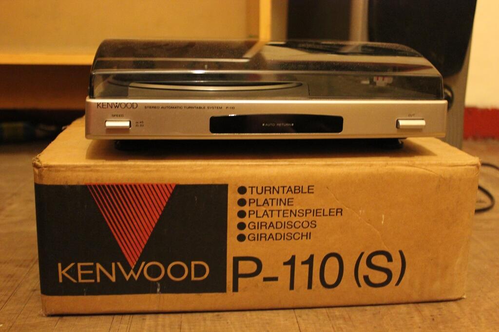 Turntable Alat Pemutar Piringan Hitam Kenwood P-110 (S) (New/Baru)