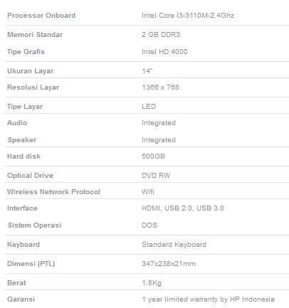 """Notebook """"HP 14-D012TU Black"""""""
