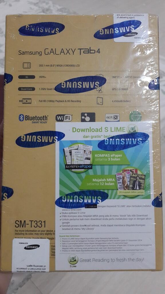 "Jual Santai Galaxy Tab 4 8"" Brand New In Box"