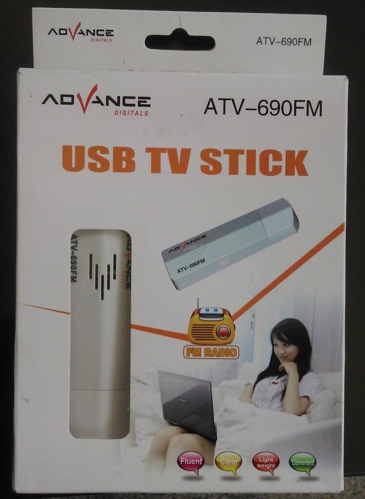 JUAL USB TV Stick Tuner Advance ATV 690 FM (Second) SURABAYA