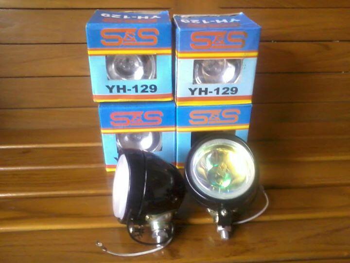 Headlight/headlamp/lampu depan bulat/classic/retro/custom Renthal replika Harley