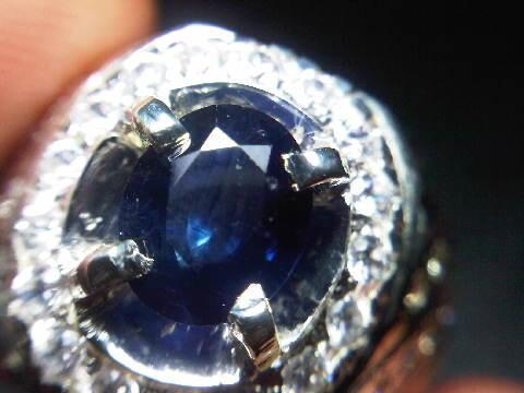 Deep Blue Sapphire Ceylon No Heat