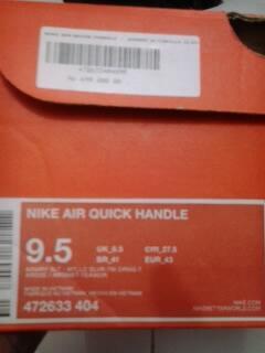 Sepatu Basket Original Nike Air Quick Handle Size 43
