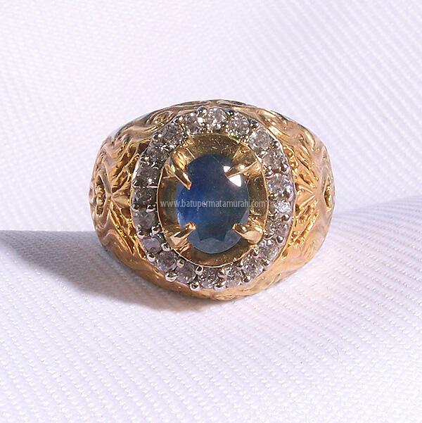 081 22 444 1111, Batu Permata Cincin Akik Mulia Safir Asli Blue Srilanka Ceylon