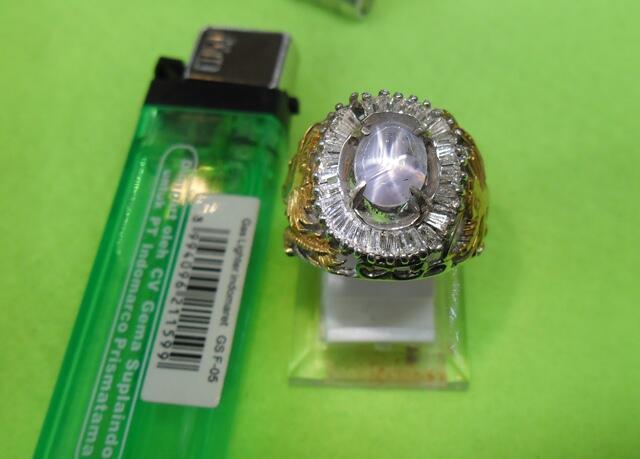 Natural Blue Star Sapphire / Safir Srilangka 6 Rays Jelas + Memo GRI Lab ☆