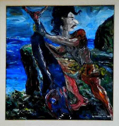 lukisan menangkap ikan (karya terbaik i wayan sumantra)