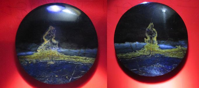 pancawarna warna antik motif gunung meletus ..