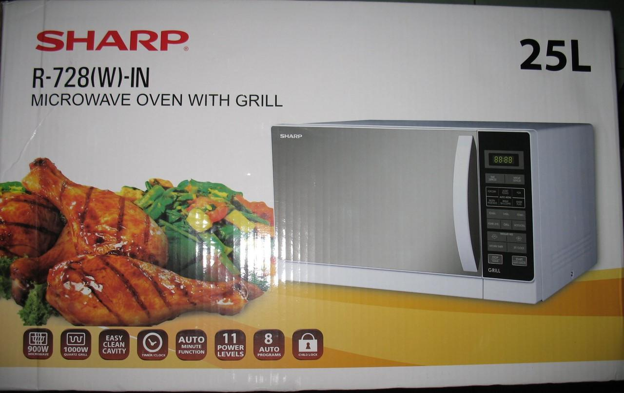 Sharp R-728 (w)-IN Microwave Owen with Grill