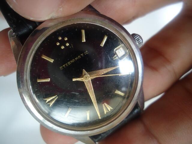 Jam Tangan Antik & Unik ETERNAMATIK Dial Hitam