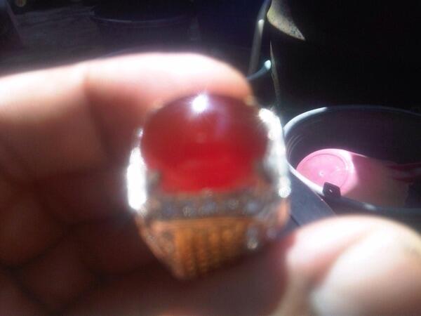 Bacan obi kristal koleksi pribadi ukuran kantoran