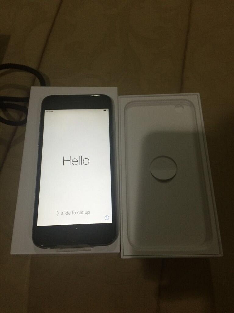 Iphone 6 128 gb, silver gray ready stock 2 pcs