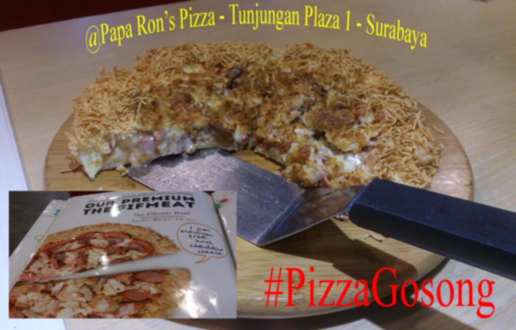 Pizza Gosong senilai 200rb di Paparons Pizza Surabaya