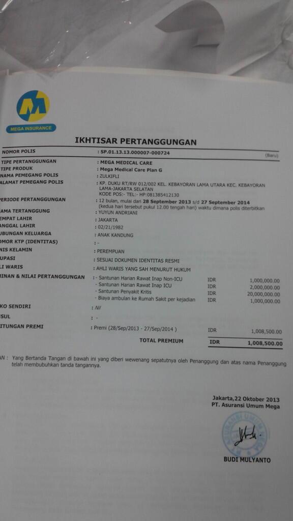 hati2 penawaran Bank Mega Insurance