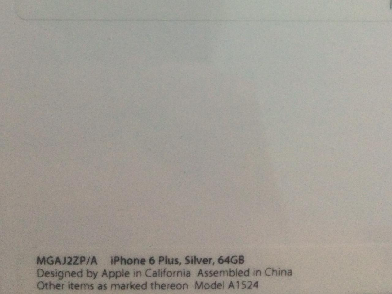 WTS iPhone 6 Plus Silver 64GB BNIB!!