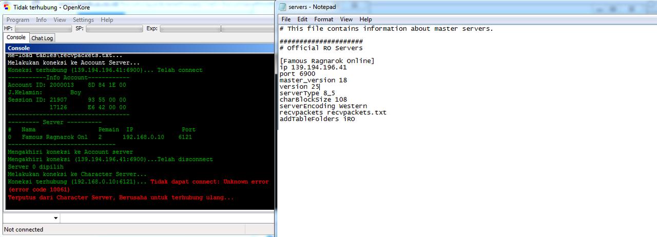 Tanya seputar setting bot (Server txt) ragnarok private server | KASKUS