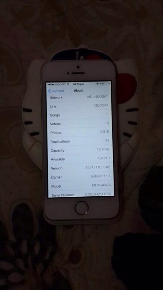 iPhone 5a gold 16gb, br 5bulan, ibox, murah!!
