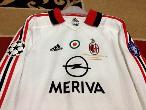 Jersey AC Milan Away LS 03/04 Player Issue Shevchenko Original BNWT