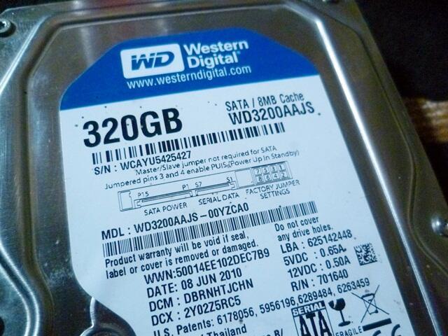 [WTS] Harddisk PC Wd Blue 320Gb SATA, Normal OK, Segel ATiKom.. Harga NEGO