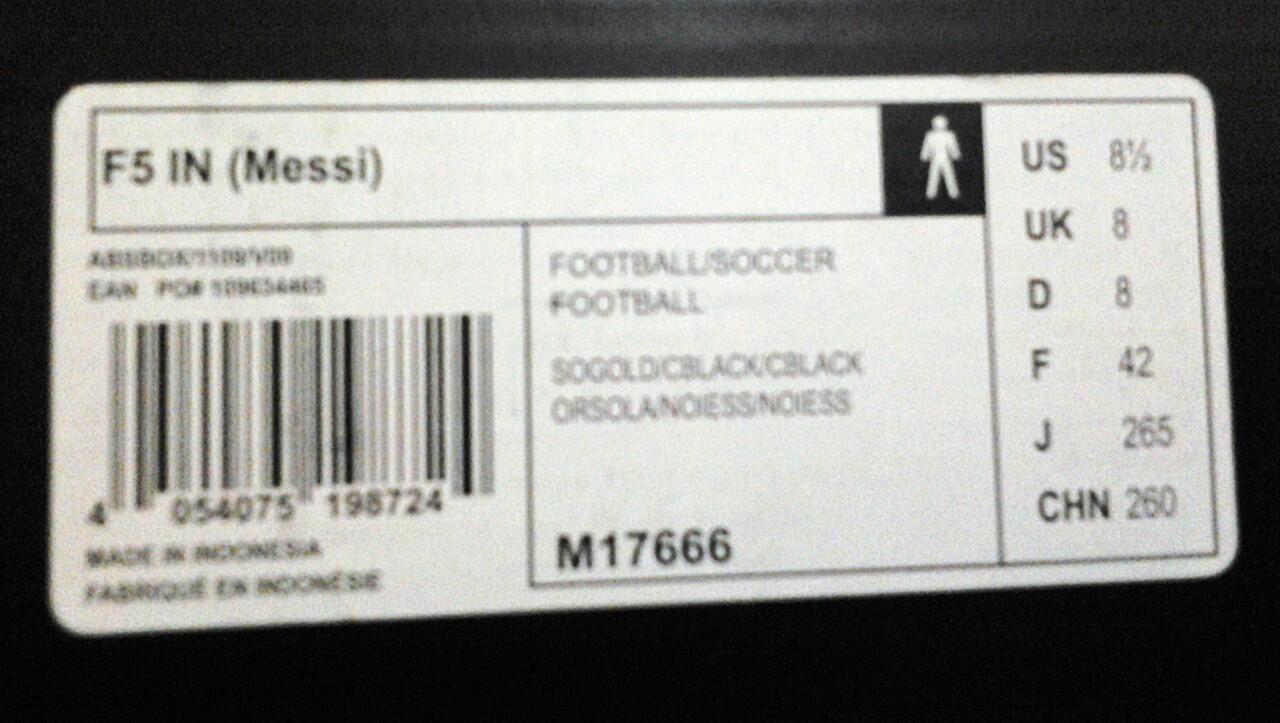 ***Sepatu Futsal ADIDAS F5 MESSI IC YELLOW-BLACK ORIGINAL*** MURAH!!!
