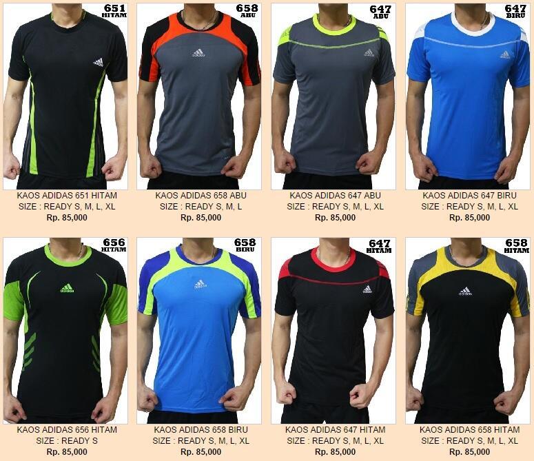 kaos olahraga nike adidas underamour jersey go, baju futsal sepakbola seragam