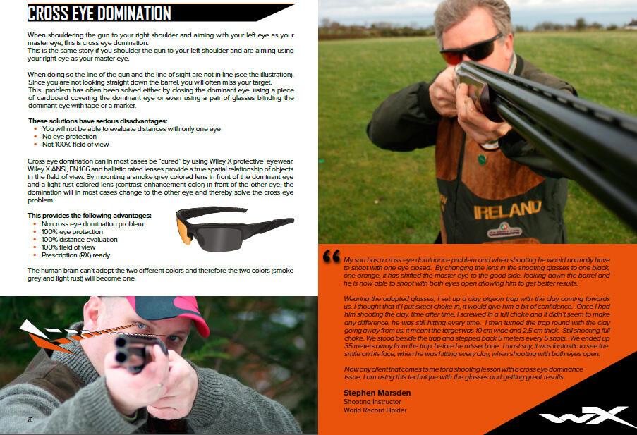 [Wiley X PT1] Kacamata Safety Untuk Shooting Sport / Berburu / Balistic Safety /Minus
