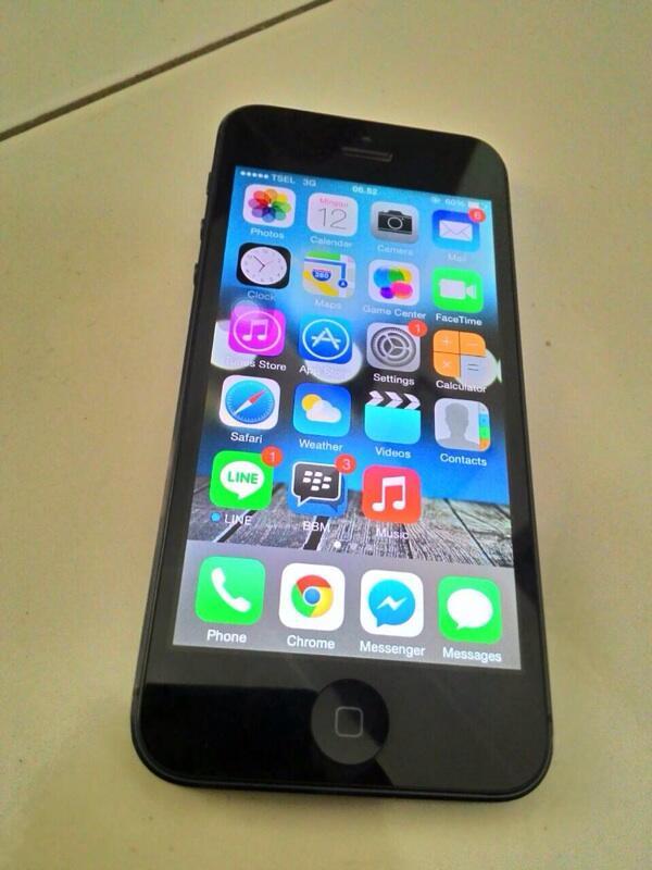 Iphone 5 16gb black hitam fullset murah surabaya