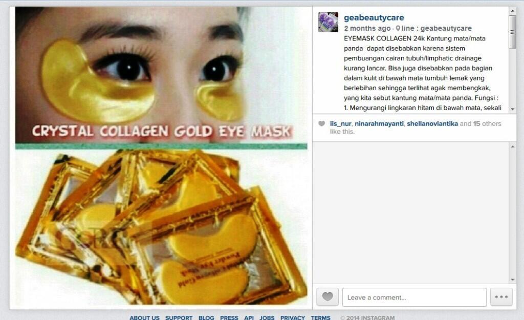 Biru Serum Vitamin C Collagen Hanasui. Source · EYEMASK COLLAGEN 24k masker .