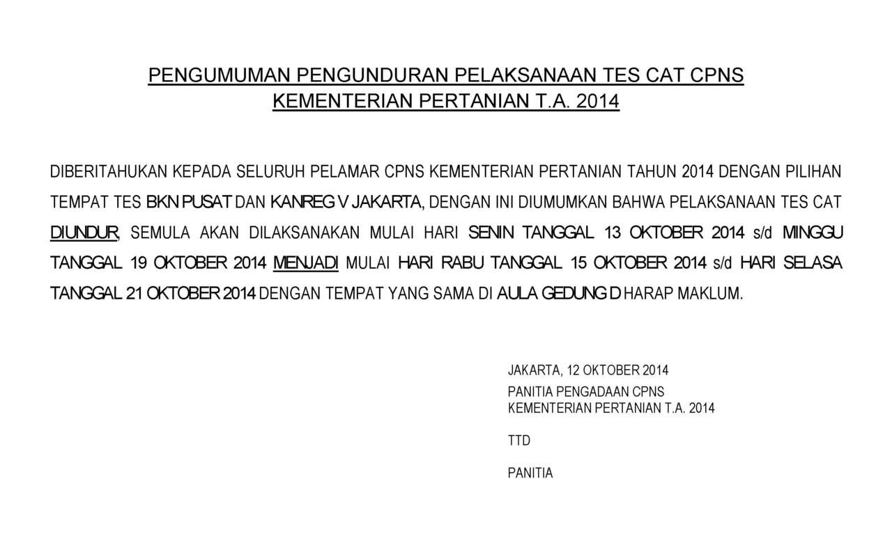 Sharing All About CPNS Kementerian Pertanian (KEMENTAN atau DEPTAN) 2014