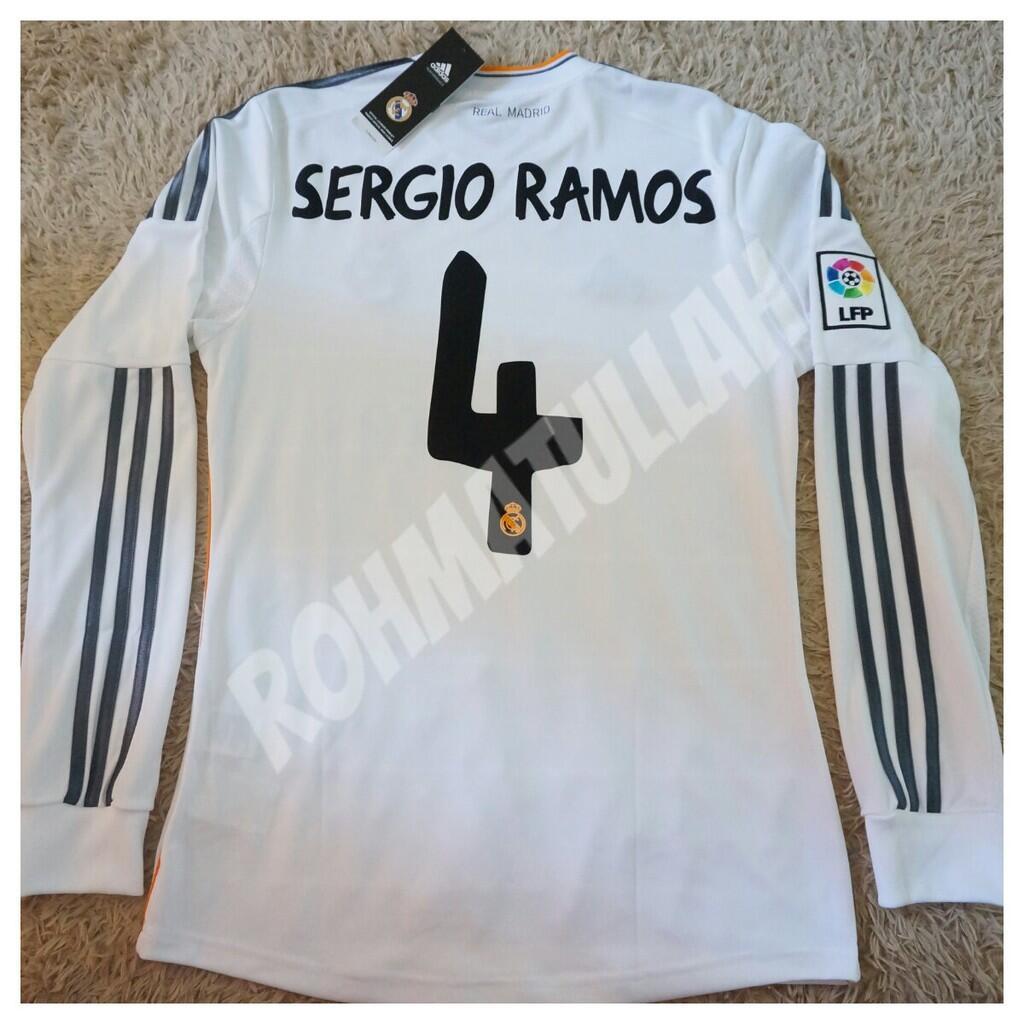 Jersey Original Real Madrid LS Home 2013/2014 (SergioRamos#4)