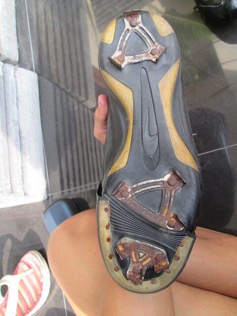 NIKE baseball metal cleats + toe plates ASICS