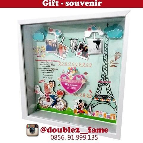 Pop Up Frame untuk pajangan, kado, hadiah ulang tahun / anniversary & souvenir bayi