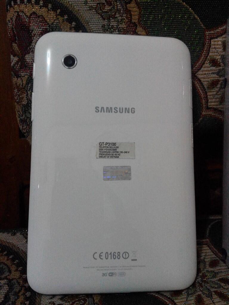 Samsung Galtab 2 seri p3100 warna putih Mulus. COD Tangerang