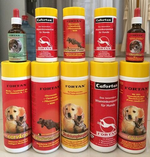 ... tq Dijual Multivitamin FORTAN untuk anjing (Cafortan, Glykan, Plufortan)