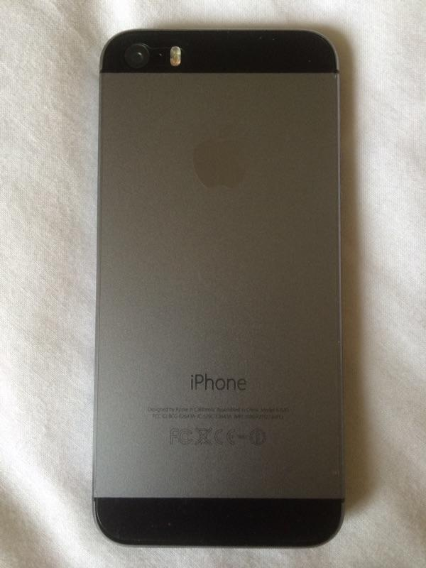 Iphone 5s space grey 16 gb second
