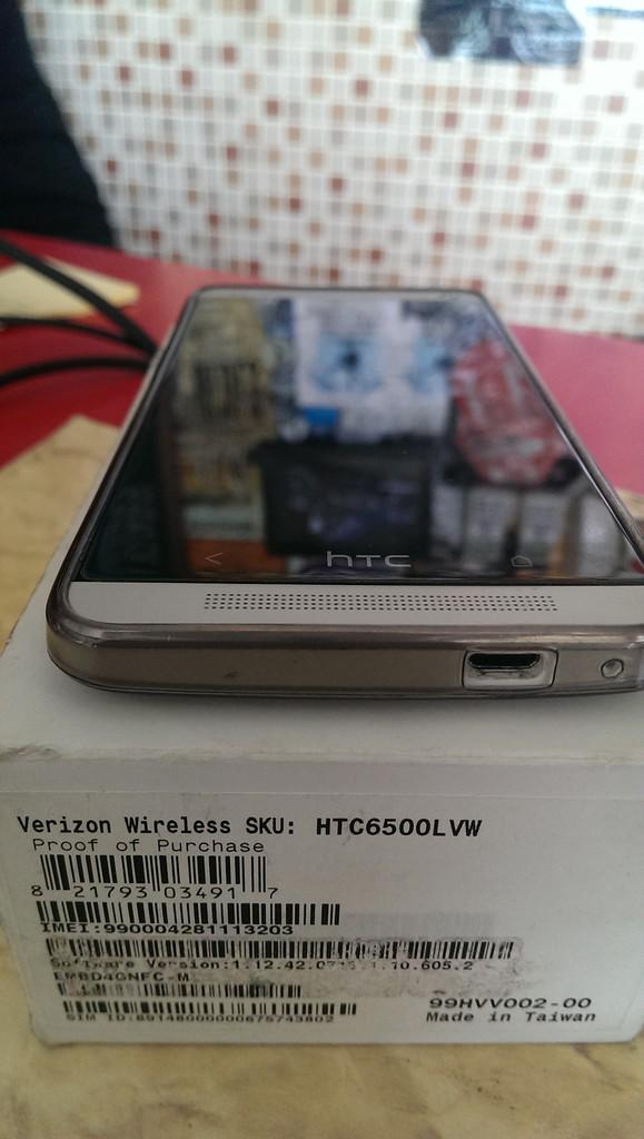 HTC M7 Verizon 32GB Silver Gsm/Cdma