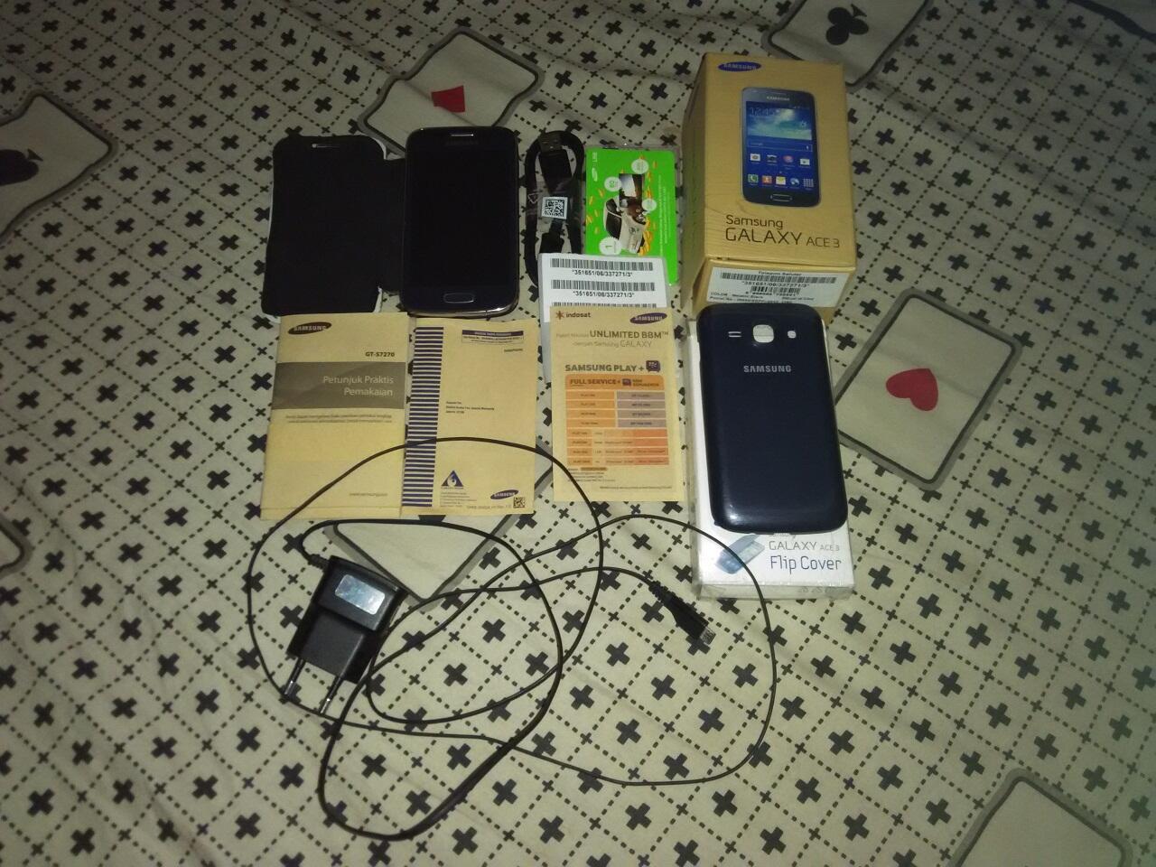 Samsung Galaxy Ace 3 Metallic Black Fullset Jakarta Selatan