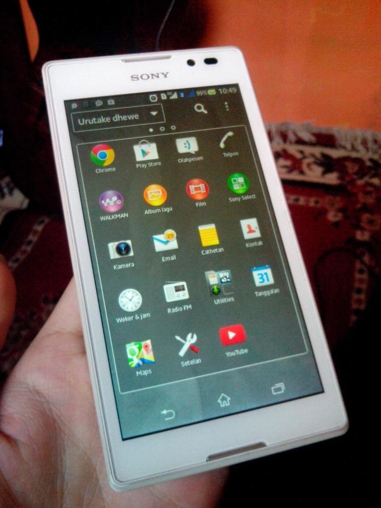 Jual Sony Xperia C dual sim Fullset Mulus Jogja