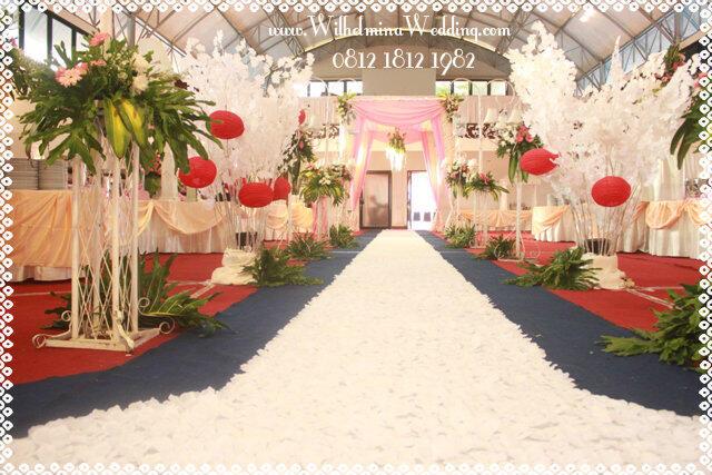 Karpet Mawar Rose Petal Putih Untuk Wedding