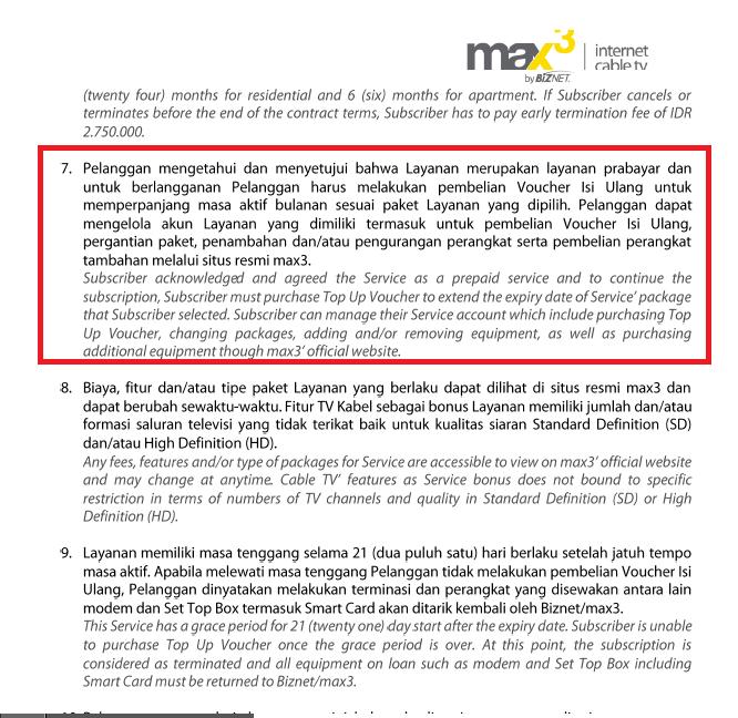 Pelayanan Max3 Biznet Yang Mengecewakan