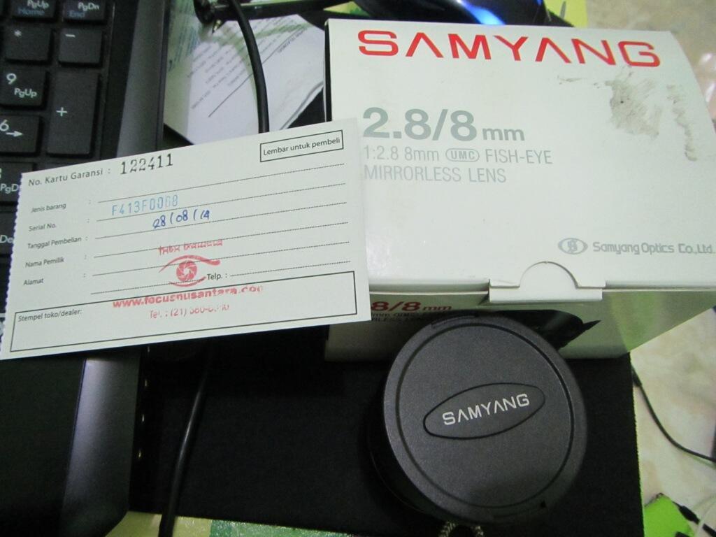 2nd Fisheye Lens for Sony E-Mount [ SAMYANG 8mm F2.8 ] Mint!- Umur 2 bulanan*Semarang