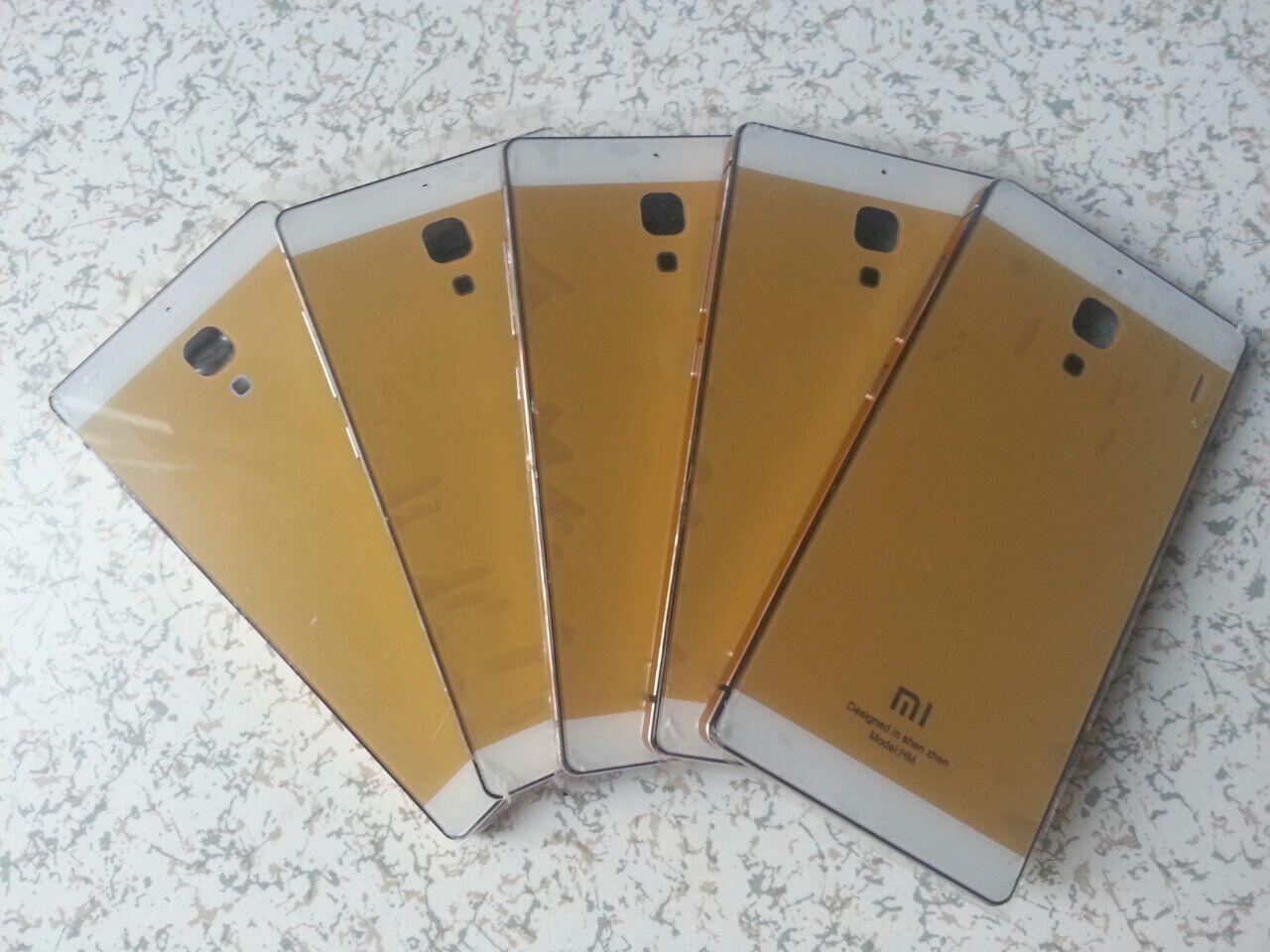Casing alumumium Xiaomi Redmi 1s black & gold ORI