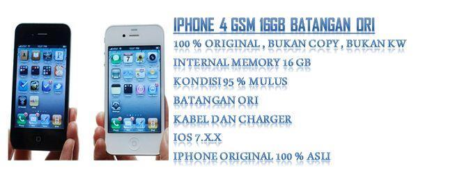 iPhone 4 GSM 16GB Batangan ORI