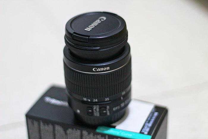 Lensa Canon EF-S 18-55mm IS II (bawaan 600D)