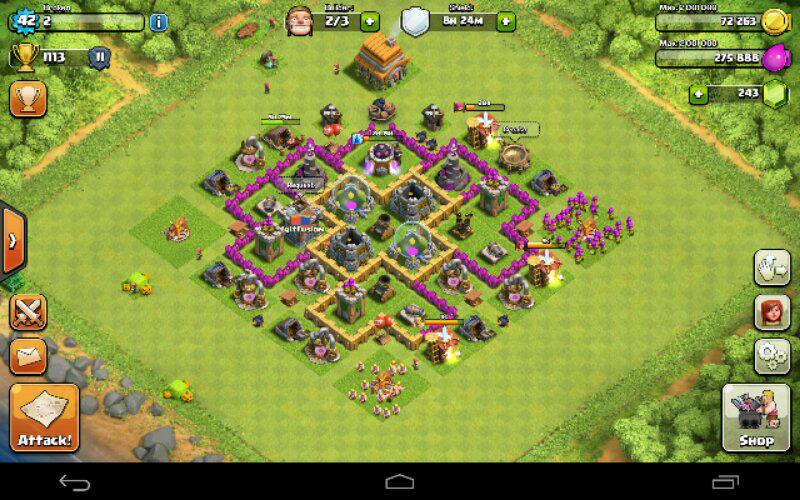 account clash of clan th 6 murmer max