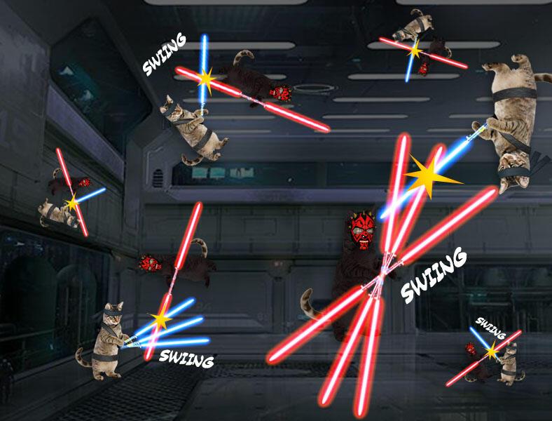 Kucing Numpang Lewat - Episode Star Wars (Komik Sotosop Full Picture)